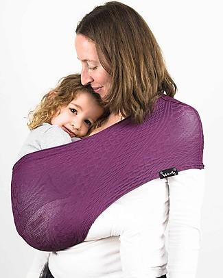 Lucky Baby Wacotto, Fascia Porta Bebè 2 in 1, Magenta - È anche sciarpa infinity!  Fasce Portabebé
