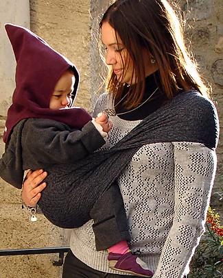 Lucky Wacotto, Fascia Porta Bebè 2 in 1, Grigio – È anche sciarpa infinity!  Fasce Portabebé