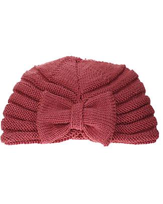 Lullaby Road Cappello a Turbante con Fiocco, Rosa Taupe (2-4 e 4-6 anni) – Lana merino foderata in pile Cappelli