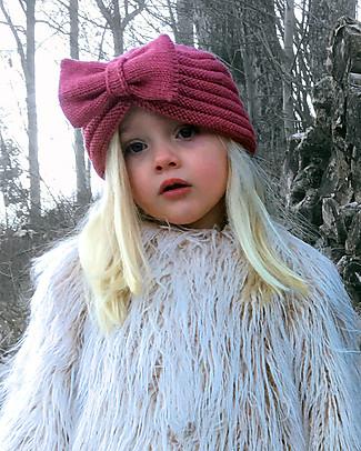 Lullaby Road  Cappello a Turbante con Fiocco, Rosa Taupe (6-12 mesi e 1-2 anni) – Lana merino foderata in pile Cappelli