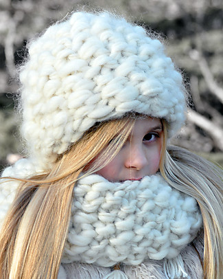 Lullaby Road Cappello Invernale Igloo, Natural (2-4 e 4-6 anni) - Lana Merino foderata in pile Cappelli