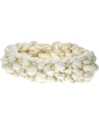 Lullaby Road Fascia Igloo, Bianco Naturale - Lana Merino foderata in pile Cappelli