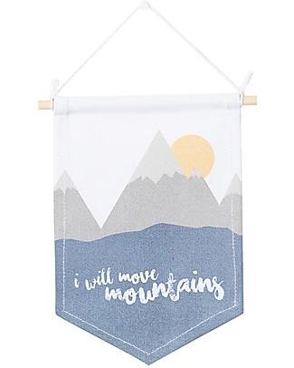 Lulujo Baby Decorazione da Parete per Cameretta - I Will Move Mountains Decorazioni