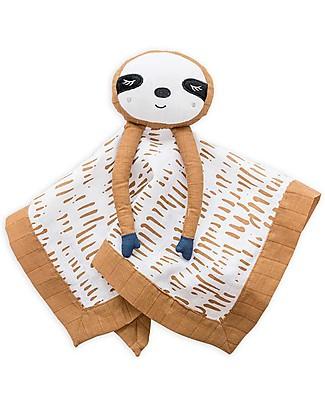 Lulujo Baby Doudou Bradipo - Mussola di Cotone - Il Primo Amico del Tuo Bebè! Coperte