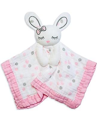 Lulujo Baby Doudou Coniglietto Rosa - Mussola di Cotone - Il Primo Amico del Tuo Bebè! null