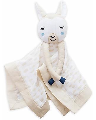 Lulujo Baby Doudou Lama - Mussola di Cotone - Il Primo Amico del Tuo Bebè! Coperte