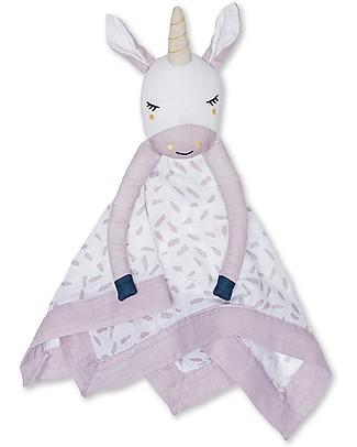 Lulujo Baby Doudou Unicorno - Mussola di Cotone - Il Primo Amico del Tuo Bebè! Coperte