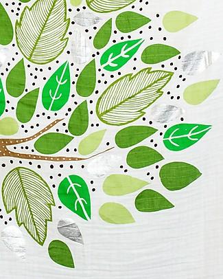 Lulujo Baby Kit Primo Anno Deluxe - Copertina Swaddle in Mussola di Cotone + 18 Cards, Here I Grow Again - Per i bebé più social! Copertine Swaddles