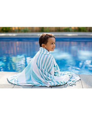 Lulujo Baby Turkish Towel, Asciugamano 100 x 150 cm, Blu Oceano - 100% cotone Accappatoi e Asciugamani