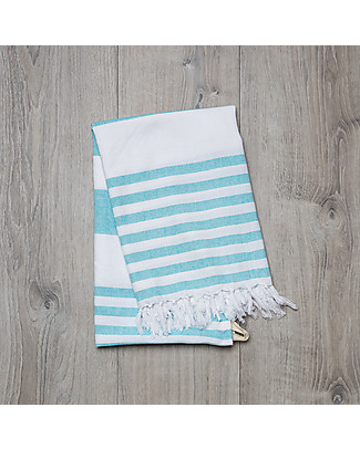 Lulujo Baby Turkish Towel, Asciugamano 100 x 150 cm, Blu Oceano - 100% cotone null