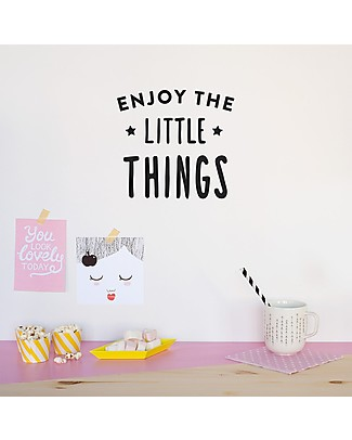 "Made of Sundays Adesivi da Parete ""Enjoy the little things"" - Sicuri e Senza PVC Posters"
