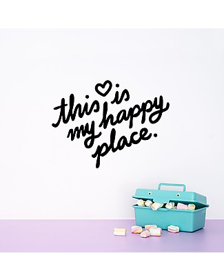 Made of Sundays Adesivo da Parete This is my Happy Place - Nero Posters