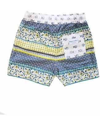 Maghi e Maci Firenze Costume a Pantaloncino, Liberty - 100% Cotone, Fatto a Mano Costumi a Pantaloncino