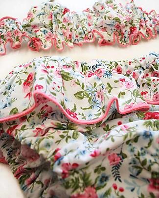 Maghi e Maci Firenze Costumino Due Pezzi Fiorellini/Rosa - 100% Cotone, Fatto a Mano Costumi Due Pezzi