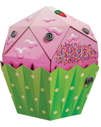 MakeDo Make Do Ready to Build - Cupcake - 100% Cartone Riciclato Kit Fai Da Te