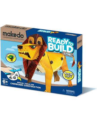 MakeDo Make Do Ready to Build - Leone - 100% Cartone Riciclato Kit Fai Da Te