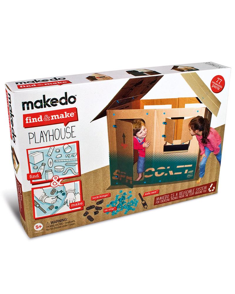 Makedo set di costruzione casetta per bambini playhouse for Kit di costruzione portico