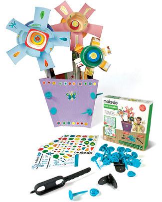 MakeDo Set di Costruzione Vaso di Fiori - Flowers (Strumenti riutilizzabili ad alto potenziale creativo!) Kit Fai Da Te