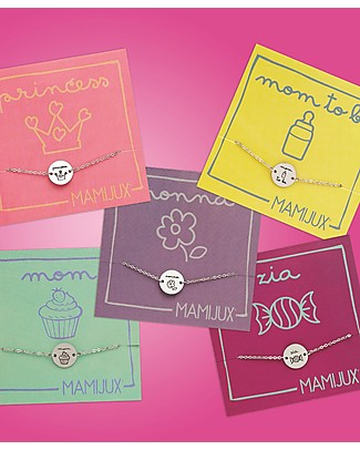 """MAMIJUX Bracciale in Acciaio M'AMI TAG, """"Mom"""" - per tutte le Mamme! Bracciali"""