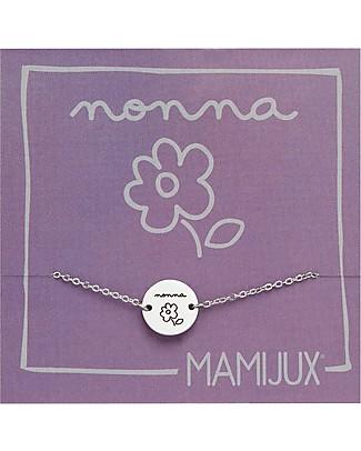 """MAMIJUX Bracciale in Acciaio M'AMI TAG, """"Nonna"""" - per tutte le Nonne! Bracciali"""