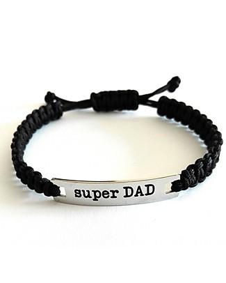 MAMIJUX Bracciale M'AMI Tag, Super DAD – Il regalo più dolce per il papà! Bracciali