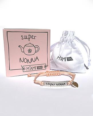 MAMIJUX Bracciale M'AMI Tag, Super Nonna - Il regalo più dolce per le nonne! Bracciali
