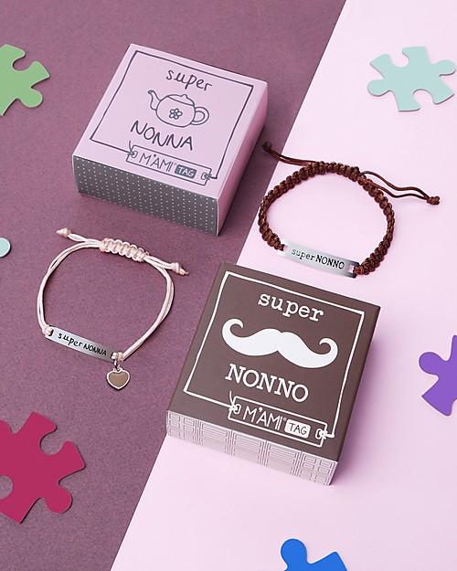 MAMIJUX Bracciale M'AMI Tag, Super Nonno - Il regalo più dolce per i nonni! Bracciali