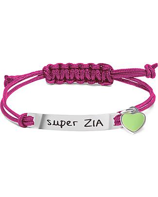 MAMIJUX Bracciale M'AMI Tag, Super Zia - Il regalo più dolce per le zie! Bracciali