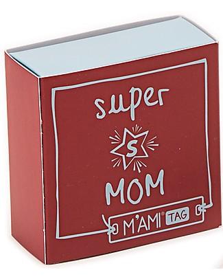 MAMIJUX Bracciale Rigido M'AMI Tag New, Super MOM - Splendido regalo per la mamma! Bracciali