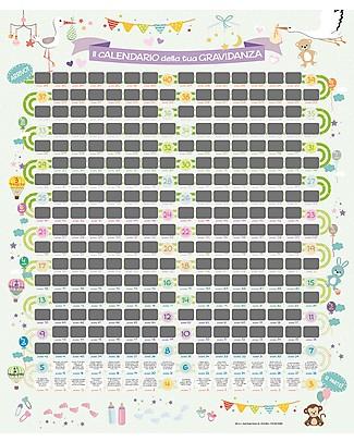 MAMIJUX Calendario Gravidanza Scratch da Parete, 56x65 cm - Gratta e scopri un consiglio al giorno! Posters