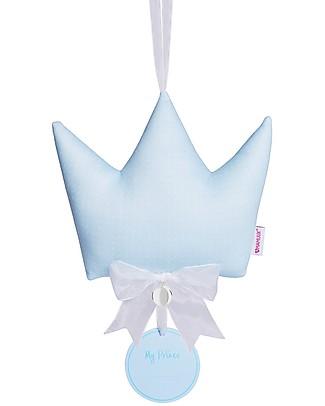 MAMIJUX Fiocco Nascita Corona Portafortuna con Chiama Angeli, Azzurro Decorazioni