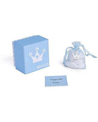 MAMIJUX Kit Bomboniera con Ciondolo, Azzurro - Perfetto per il battesimo Regalini
