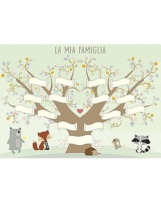 MAMIJUX Poster Albero Genealogico della Famiglia, 30x42 cm Posters