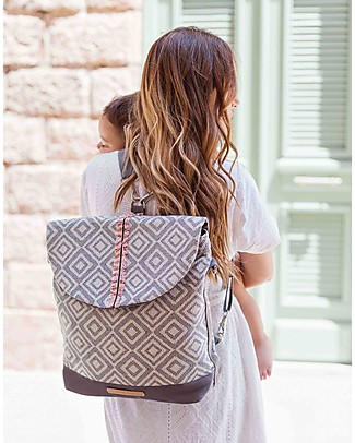 Mara Mea 2-in-1 City Diaper Bag/Shoulder Bag, Extra Romance – 100% waxed cotton Messenger Bags