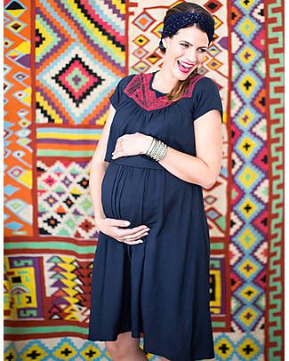 Mara Mea Bananadilla, Abito Maternità e Allattamento, Blu - Con pannello nascosto per l'allattamento! Vestiti