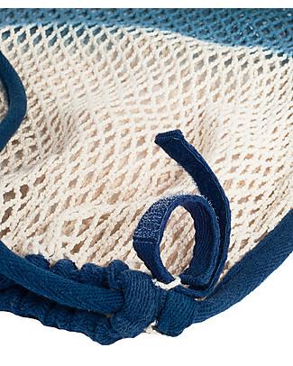 Mara Mea Borsa in Rete per Passeggino, Deep Ocean Blue Dip Dye - 100% cotone Accessori