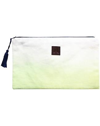 Mara Mea Bustina Cool Breeze – Lime Dip Dye – Tela di Cotone  Trousse & Pochette