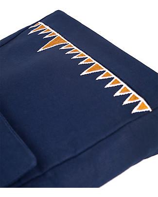Mara Mea Cartella/Tracolla 2-in-1, 25 x 21 cm, Brave Eagle Blu - 100% tela di cotone impermeabilizzato Zainetti