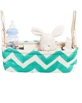Mara Mea Organizer per Passeggino, Mountain Breeze Verde Acqua ZigZag Accessori