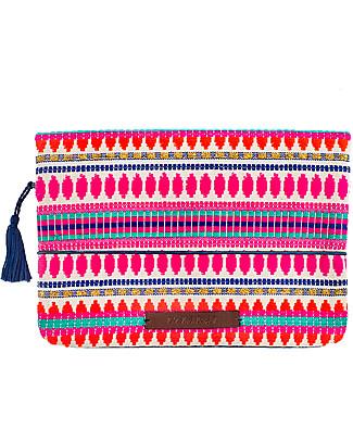 Mara Mea Pochette Porta Pannolini Clutch Machu Pichu, Multicolore Borse Cambio e Accessori