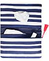 Mara Mea Pochette Porta Pannolini Having a Picnic – Righe Blu e Bianche - Tela di Cotone Borse Cambio e Accessori