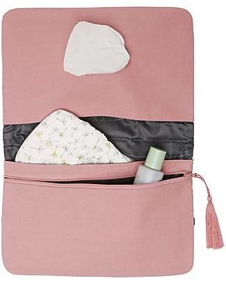 Mara Mea Pochette Porta Pannolini Morning Feed - Rosa - Cotone Borse Cambio e Accessori