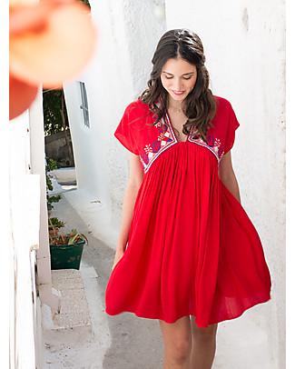 Mara Mea Salty Hair, Abito Maternità e Allattamento, Rosso - Morbidissima viscosa! Vestiti