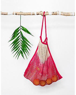 Mara Mea Stroller Net Bag, Paw Paw Pink Dip Dye – 100% cotton Stroller Accessories