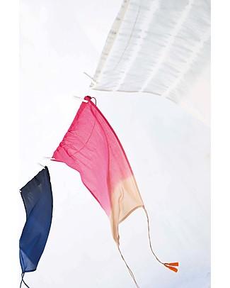 Mara Mea Telo Parasole per Carrozzina Jungalow - Blu Sfumato - 100% Cotone (56x72 cm) Accessori
