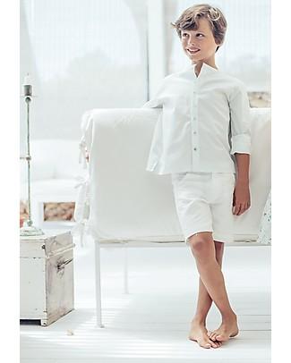 Maria Bianca Bermuda Chino in Lino, Bianco -  Perfetto da Cerimonia! Pantaloni Corti
