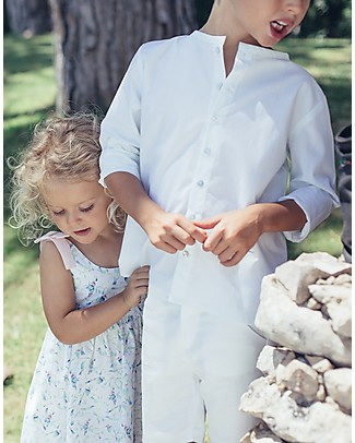 Maria Bianca Camicia Bimbo in Cotone, Bianca - Perfetta da Cerimonia! Camicie