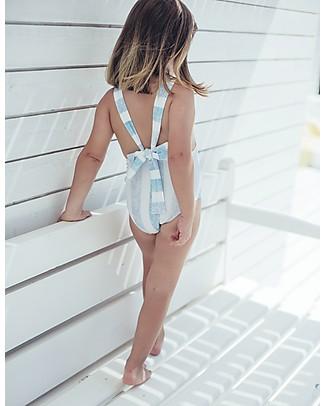 Maria Bianca Costume Intero a Righe Bianche e Celesti - Gale Sul Davanti! Costumi Interi