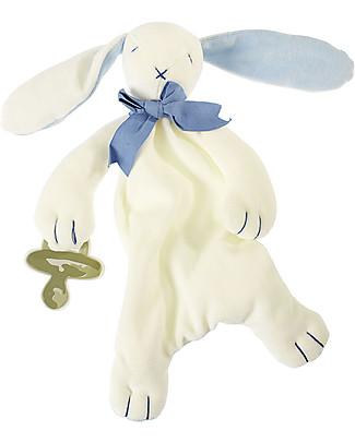 Maud N Lil DouDou Comforter in Cotone con Confezione Regalo! - Coniglietto Blu - 100% Cotone Bio Doudou