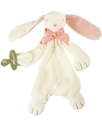 Maud N Lil DouDou Comforter in Cotone con Confezione Regalo! - Coniglio Rosa - 100% Cotone Bio Doudou